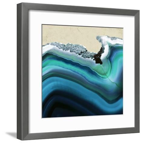 Turquoise Agate B--Framed Art Print