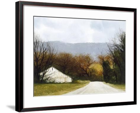 A Drive Through Fall-Miguel Dominguez-Framed Art Print