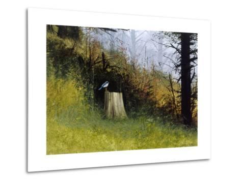 Bluebird-Miguel Dominguez-Metal Print