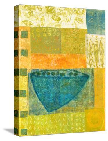 Blue Vase Rhythms-Doris Mosler-Stretched Canvas Print