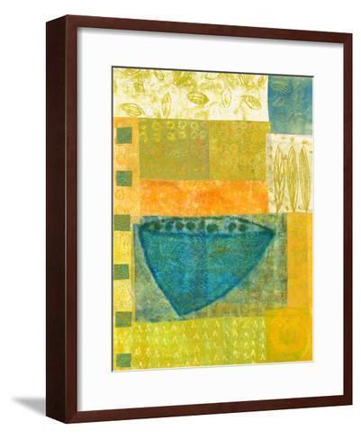 Blue Vase Rhythms-Doris Mosler-Framed Art Print
