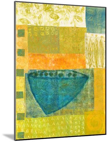 Blue Vase Rhythms-Doris Mosler-Mounted Premium Giclee Print