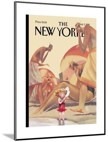 The New Yorker Cover - August 3, 1998-Carter Goodrich-Mounted Premium Giclee Print
