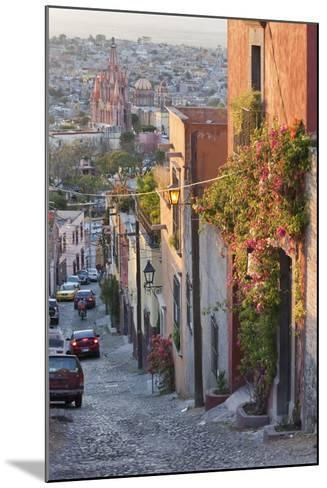 Mexico, San Miguel de Allende. Street scene with overview of city.-Don Paulson-Mounted Photographic Print