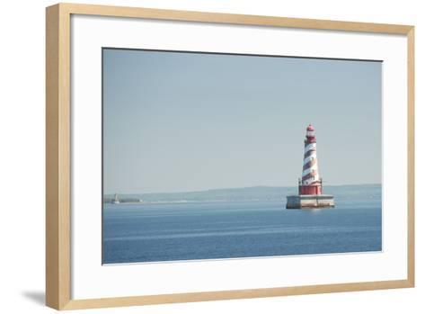 USA, Michigan, Great Lakes, Lake Michigan, White Shoal Lighthouse.-Cindy Miller Hopkins-Framed Art Print
