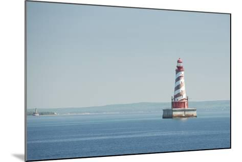 USA, Michigan, Great Lakes, Lake Michigan, White Shoal Lighthouse.-Cindy Miller Hopkins-Mounted Photographic Print