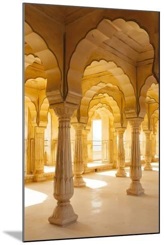 Colonnaded gallery, Amber Fort, Jaipur, Rajasthan, India.-Inger Hogstrom-Mounted Photographic Print