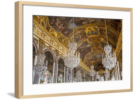 The Hall of Mirrors, Chateau de Versailles, France.-Brian Jannsen-Framed Art Print