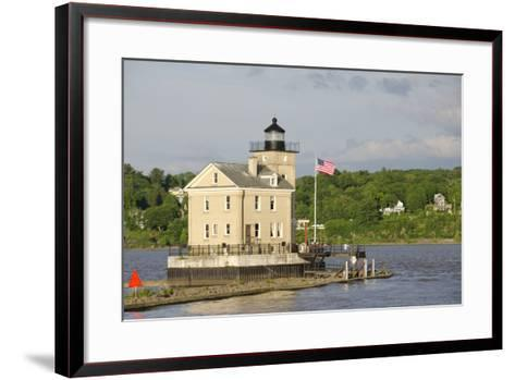 USA, New York, Kingston, Hudson River. Rondout Creek Light.-Cindy Miller Hopkins-Framed Art Print