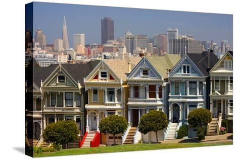 USA, California, San Francisco, the 'Painted Ladies'.-Anna Miller-Stretched Canvas Print