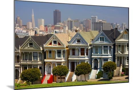 USA, California, San Francisco, the 'Painted Ladies'.-Anna Miller-Mounted Photographic Print