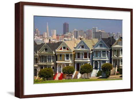 USA, California, San Francisco, the 'Painted Ladies'.-Anna Miller-Framed Art Print