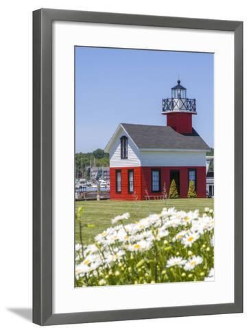 Old Lighthouse, on Lake Kalamazoo, Saugatuck, West Michigan, USA-Randa Bishop-Framed Art Print