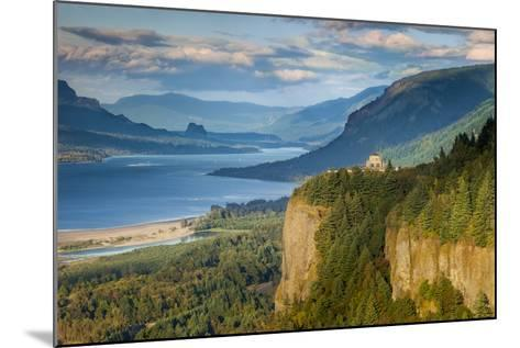 Overlooking the Vista House and the Columbia River Gorge, Oregon, USA-Brian Jannsen-Mounted Photographic Print