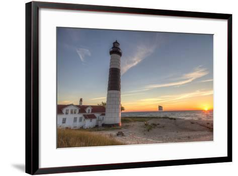 Big Sable Point Lighthouse on Lake Michigan, Ludington SP, Michigan-Chuck Haney-Framed Art Print