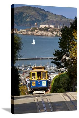San Francisco cable car, California, USA-Brian Jannsen-Stretched Canvas Print