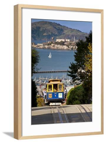 San Francisco cable car, California, USA-Brian Jannsen-Framed Art Print