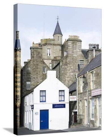 Old town waterfront, Lerwick, Scotland, Northern Isles, Shetland.-Martin Zwick-Stretched Canvas Print