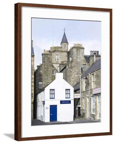 Old town waterfront, Lerwick, Scotland, Northern Isles, Shetland.-Martin Zwick-Framed Art Print