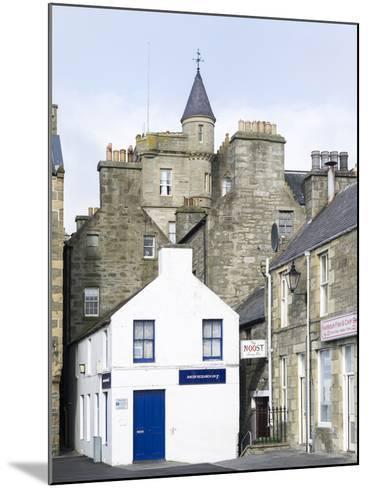 Old town waterfront, Lerwick, Scotland, Northern Isles, Shetland.-Martin Zwick-Mounted Photographic Print