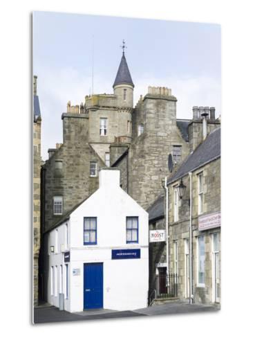 Old town waterfront, Lerwick, Scotland, Northern Isles, Shetland.-Martin Zwick-Metal Print