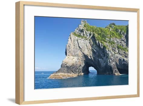 New Zealand, North Island, Bay of islands, Hole in the Rock-Rob Tilley-Framed Art Print