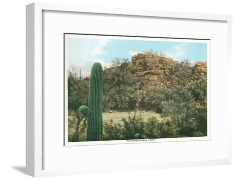 Picture Rocks Near Tucson--Framed Art Print
