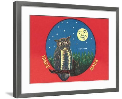 Owl and Moon--Framed Art Print