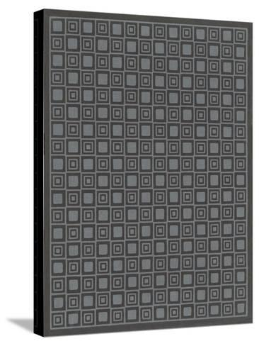 Geometric Gray and Black Patterns--Stretched Canvas Print