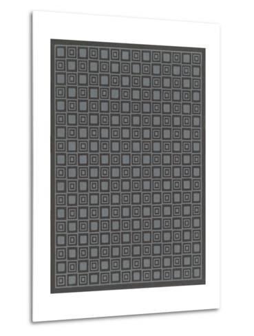Geometric Gray and Black Patterns--Metal Print