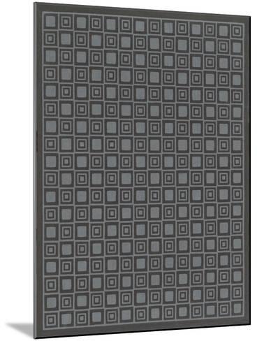Geometric Gray and Black Patterns--Mounted Art Print