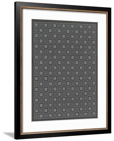 Geometric Gray and Black Patterns--Framed Art Print