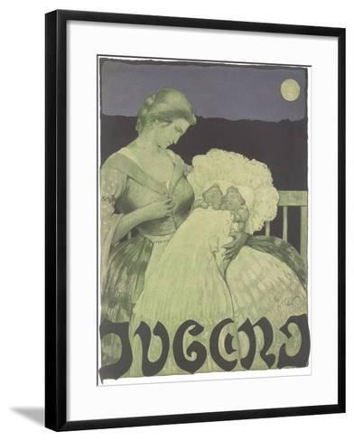 Woman with Twin Babies--Framed Art Print