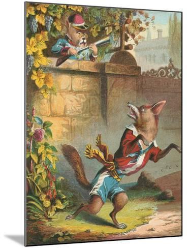 Aesop's Fables, Sour Grapes--Mounted Art Print