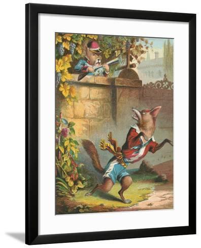 Aesop's Fables, Sour Grapes--Framed Art Print