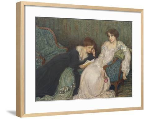 Women Reading on Day Bed--Framed Art Print