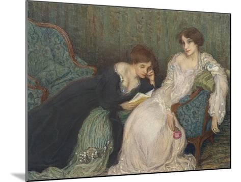 Women Reading on Day Bed--Mounted Art Print