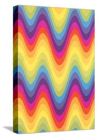 Wavy Rainbow Motif--Stretched Canvas Print