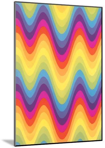 Wavy Rainbow Motif--Mounted Art Print
