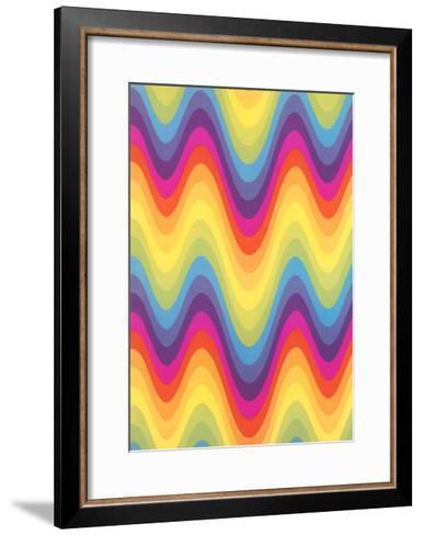 Wavy Rainbow Motif--Framed Art Print