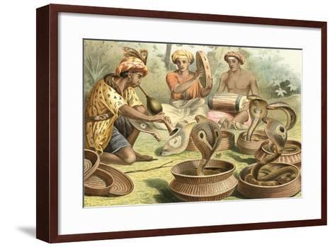 Snake Charmers and Cobras--Framed Art Print
