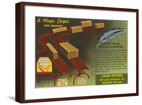 Market Forge Portable Conveyor Belt--Framed Art Print