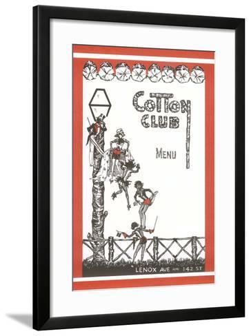 Cotton Club Menu Cover--Framed Art Print