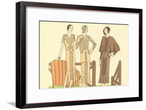 Fashion Illustration, Three Dresses--Framed Art Print