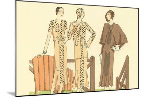Fashion Illustration, Three Dresses--Mounted Art Print