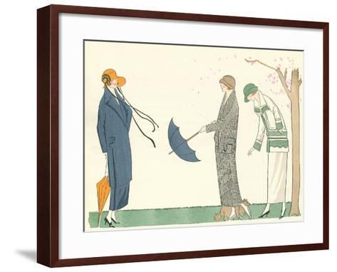 Vintage Fashion Illustration--Framed Art Print