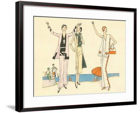 Vintage Haute Couture Beach Wear--Framed Art Print