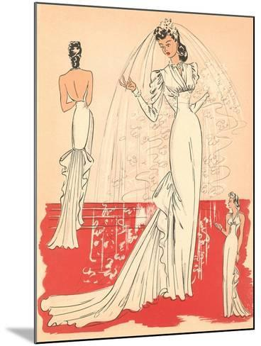 Wedding Gown--Mounted Art Print