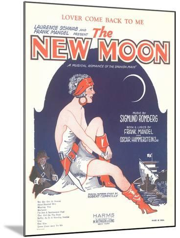 Sheet Music for the New Moon--Mounted Art Print