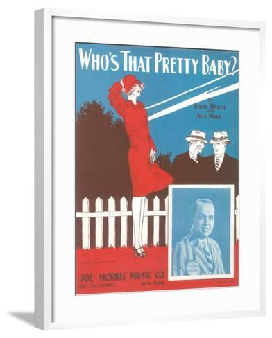 Who's That Pretty Baby Sheet Music--Framed Art Print